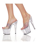 Pleaser Womens SZ 11 Stiletto Shoes Hologram Dr... - $37.00