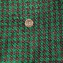 Vintage Wool Suiting Fabric Plaid Wool Fabric i... - $50.00