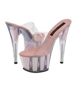 Pleaser Womens Size 9 Stiletto Shoes Baby Pink ... - $37.00