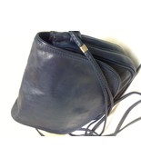 PERUZZI FLORENCE BLUE LEATHER CROSS BODY BAG - $55.99