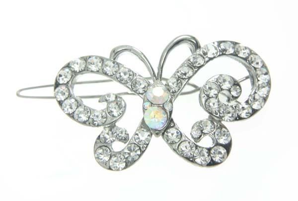 Glamorous Butterfly  Crystal Jeweld Hair Pin (clip60a)