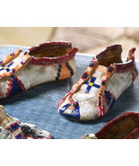 Pair Collectible Moccasins  Set 3 Polyresin Fig... - $9.95