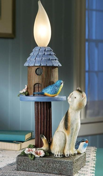 Bluebird And Cat Outdoor Lighting