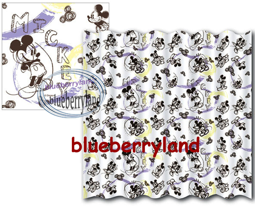 disney mickey mouse shower curtain with rings bathroom q other