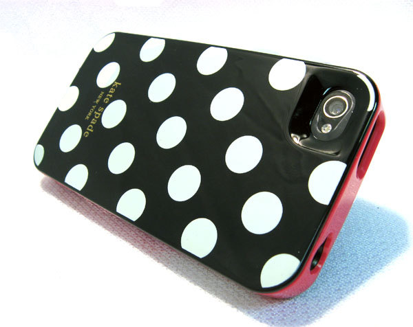 Kate Spade iPhone 4 New York Designer Case Polka Dots Black
