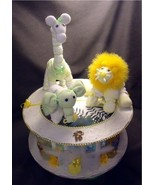 Jungle Safari Diaper Cake Baby Shower Centerpie... - $49.00