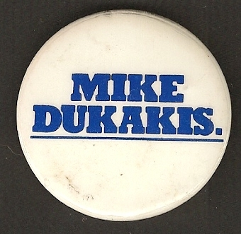 Michael Dukakis For Govenor Scarce Campaign Button