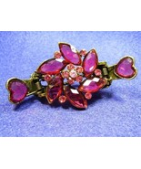Purple Pink Flower with Hearts Hair Clamp - Stu... - $12.98