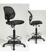 Mesh Back VINYL Seat Drafting Chair Adjustable ... - $144.99