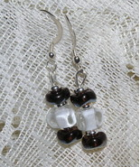 Czech & Dichroic Glass Bead Earrings - $5.00