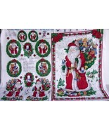 10 Christmas Appliques Fabric Panel Santa Wall Hanging Toys Teddy Bear Puppy New