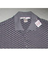 Perry Ellis Size Adult Large Gray Checked  Polo... - $8.99