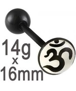 14g~16mm Ohm logo tongue rings bars piercing lo... - $6.99