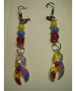 AUTISM AWARENESS RIBBONS handcrafted earrings