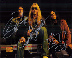 Signed Alice in Chains 8x10 by Jerry Cantrell Sean Kinney an
