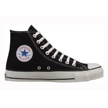 New Black Converse All Star High Hi Tops womens 12 mens 10 Casual from bonanza.com