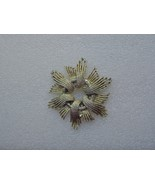 Large Coro Gold Starburst Brooch or Pin Signed - $14.00