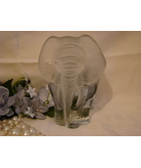 Vintage Viking Glass Elephant paper weight or b... - $19.99