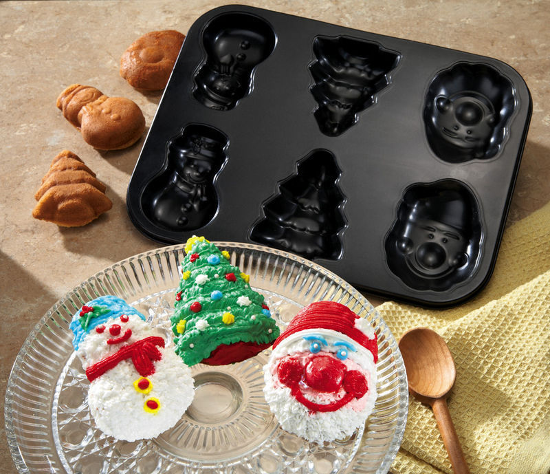 Christmas Shapes Holiday Carbon Steel Baking Pan New