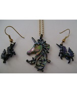 Necklace & Earrings, Park Lane, Iridescent Blac... - $15.00