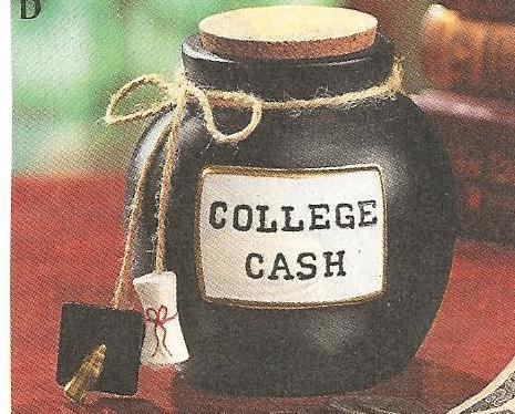 College Cash* Fund Jar New
