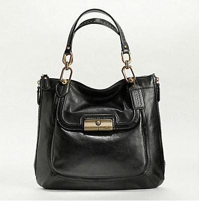 NWT Coach Kristin Elevated Goat Leather Large N/S Zip Tote Handbag 18289~Black
