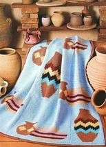Navajo Afghans - House of White Birches Crochet Leaflet 101091