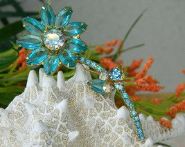 Vintage_juliana_brooch_pin_rhinestone_long_stem_flower_aqua_thumb200