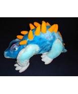 Blue Yellow Stegosaurus Dinosaur Plush Stuffed ... - $29.99