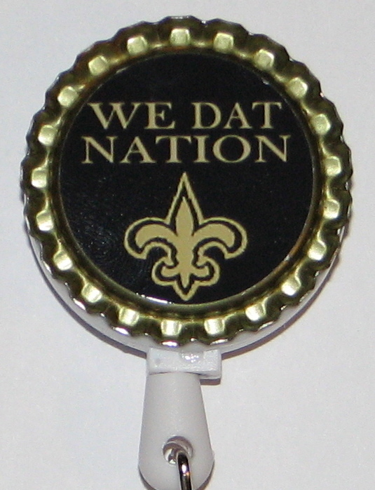 New Orleans Saints 2-14 retractable id badge holder