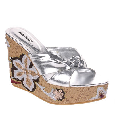 Women's Silver Lolita Wedges