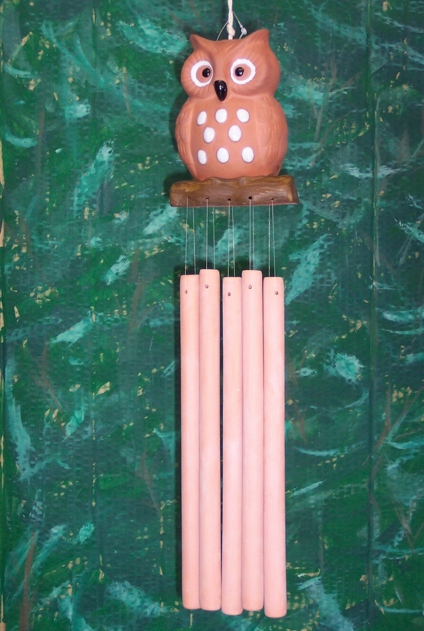 Owl Terracotta Wind Chime Windchime