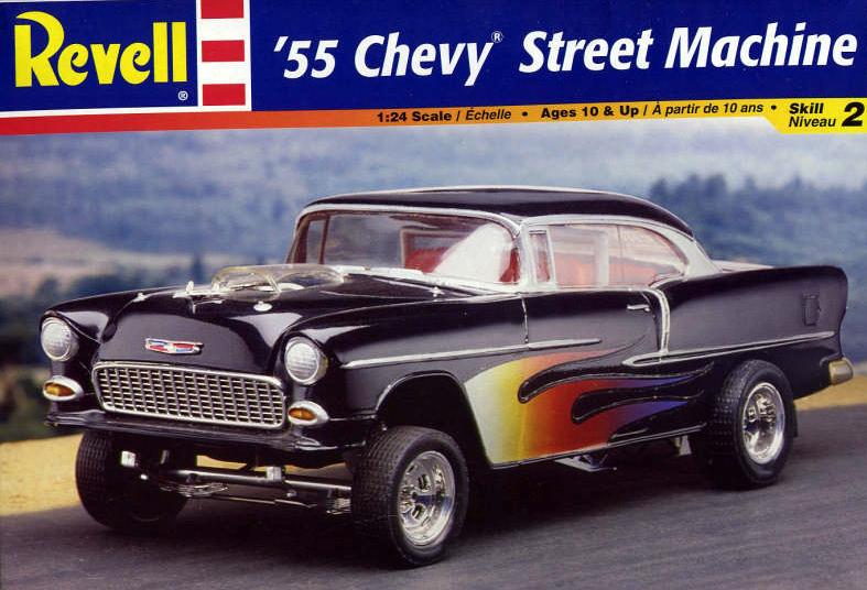 Revell 55 Chevy Street Machine Model Kit 124 Scale