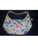 DOONEY AND BOURKE HEARTS BUCKET PURSE HANDBAG