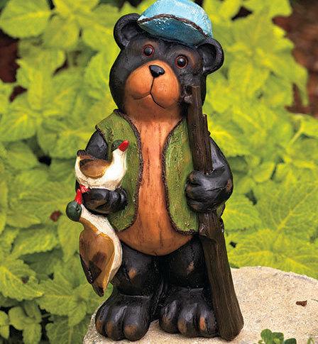 Hunting Bear Garden Statue