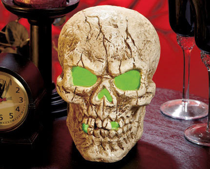 Image 0 of LED Lighted Color-Changing Skull Centerpiece