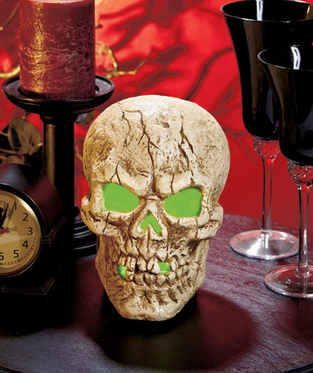 Image 1 of LED Lighted Color-Changing Skull Centerpiece