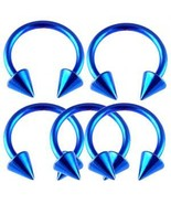 LOT 14g~1/2 Horseshoe Circular Barbells Ear Rin... - $11.67