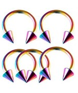 LOT 14g~1/2 Horseshoe Circular Barbells Ear Rin... - $11.67
