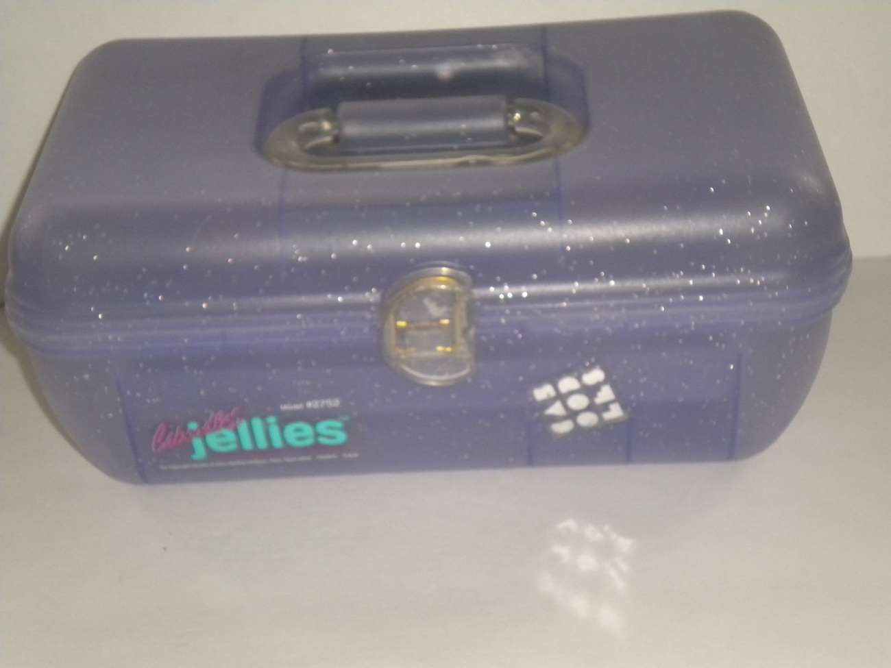 Caboodles Jellies Jewelry case purple sparkles Vintage