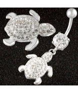 turtle belly button piercing bar ring body jewe... - $12.00