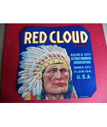 Fruit Box Label Red Cloud Citrus Florida - $8.00