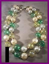 Vintage LISNER 2-Strand Faux Pearl Bubble Bead ... - $55.80