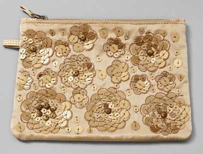 Chico's Gold Charming Gift Clutch NEW