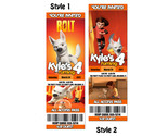 Buy Announcements - BOLT Birthday Party Invitation Ticket Photo CUSTOM
