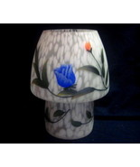 Accent Lamp Night Light Painted Roses Mottled A... - $14.99