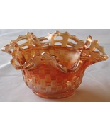 Fenton Marigold Carnival Glass Bowl Blackberry ... - $31.93