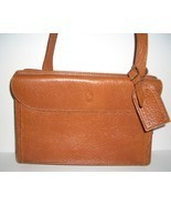 Vintage Ralph Lauren Tan Pebble Leather  Handba... - $79.00