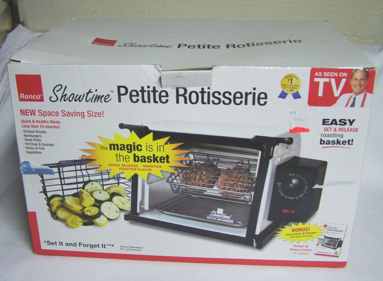 ronco showtime petite rotisserie as seen on tv new in box rotisseries. Black Bedroom Furniture Sets. Home Design Ideas