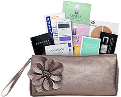 Metallic Clutch Stuffed With 20 Bonus Samples